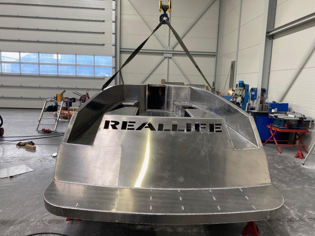 Reallife 650 aluminium boten achter aanzicht